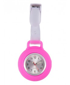 Reloj Enfermera Silicona Pinza Rosa