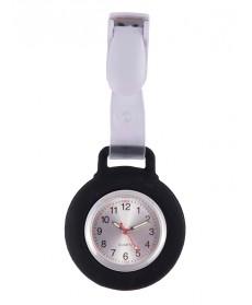 Reloj Enfermera Silicona Clip Negro