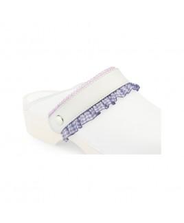 Click Straps Purple Frill