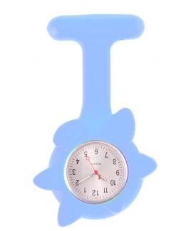 Reloj de enfermera Flor Primavera Azul