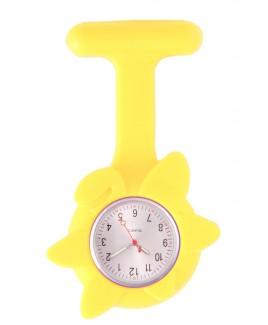 Reloj Enfermera Flor Primavera Amarillo