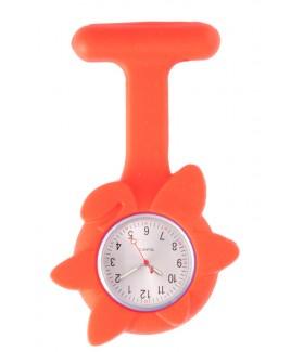 Reloj de enfermera Flor Primavera Rojo