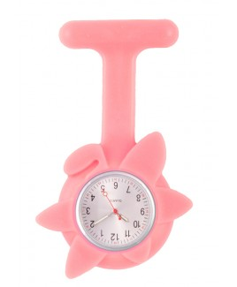 Reloj de enfermera Flor Primavera Rosa