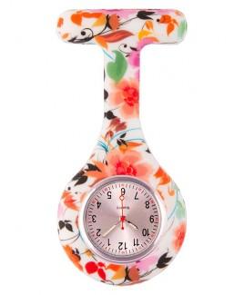 Reloj enfermera Silicona Asian Flowers