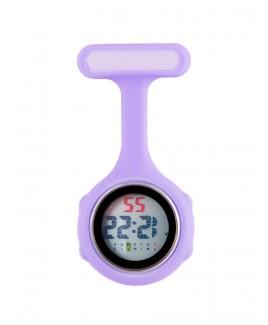 Reloj de bolsillo digital para enfermeras Violeta