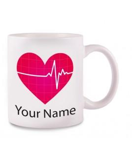 Taza EKG con tu Nombre