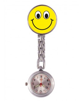 Reloj Enfermera Smiley Amarillo