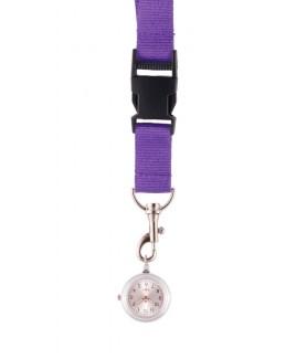 Reloj colgante para Enfermeras Violeta
