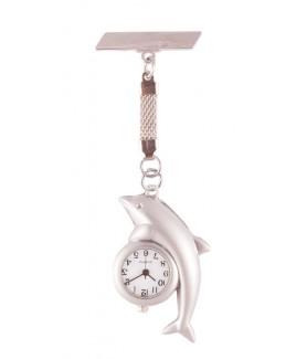 Reloj de Enfermeras Delfín Plata