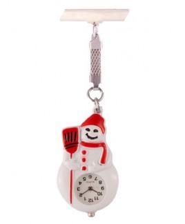 Reloj Enfermera Muñeco de Nieve