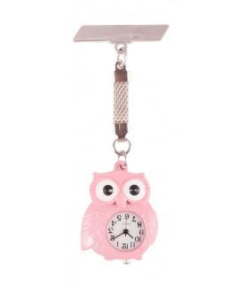 Reloj de Enfermeras Búho Rosa
