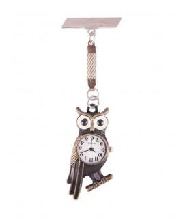 Reloj de enfermeras Búho Bronce